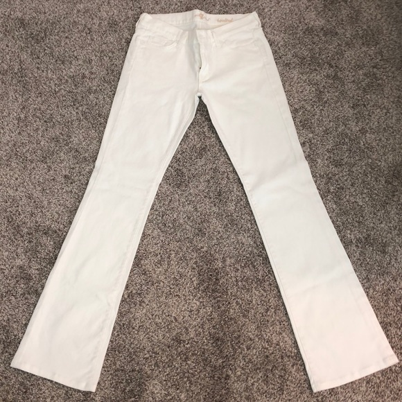 7 For All Mankind Denim - 7 for all mankind white bootcut jeans